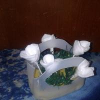 Мастер-класс по работе с бросовым материалом «Корзина подснежников для мамочки»