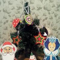 Мастер-класс к Новому году «Шарики и звездочки из цветного картона»