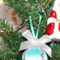Мастер-класс: поделка из пенопласта и лент «Новогодний шар на елку»