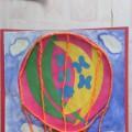 Мастер-класс «В небеса летят шары небывалой красоты». Аппликация с элементами рисования и ниткографии (средняя группа)
