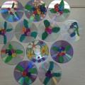 Пластилиновые цветы на дисках— мастер-класс