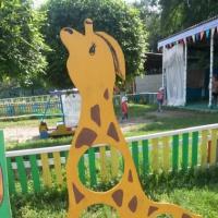 Идеи оформления для участка «Жираф и белочка»