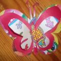 Мастер-класс «Объёмная бабочка из цветной бумаги»