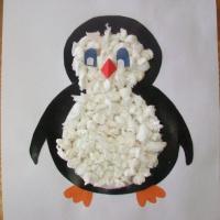 Аппликация из бумаги «Пингвин»