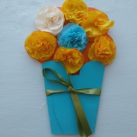 Мастер-класс. Открытка к 8 марта «Ваза с цветами»