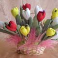 Мастер-класс по изготовлению букета из конфет «Сладкие цветы»