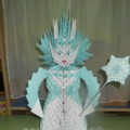 «Снежная королева»в технике модульного оригами