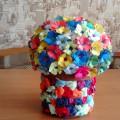 Цветочный шар. Мастер-класс