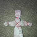 Народная тряпичная кукла Кувадка тульская