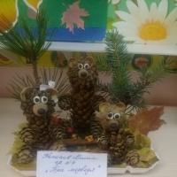 Фотоотчет осеннего развлечения и поделок из природных материалов «Чудо осень»