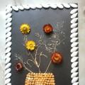Мастер-класс по изготовлению панно из природного материала «Цветы в вазе»
