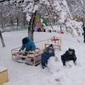Как мы лепили веселого снеговика