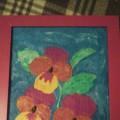 Мастер-класс. Картина «Любимые цветы мамы. «Анютины глазки» в технике «пластилиновая живопись»