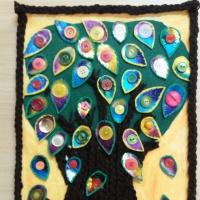 Коллективная работа «Дерево из фетра, ниток и пуговиц»