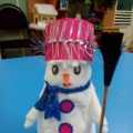 Мастер-класс «Снеговик из ватных дисков»