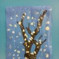 Рисование в технике кляксография (выдувание трубочкой). «Дерево в снегу».