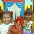 Интегрированное музыкальное занятие для детей средней группы «Осень краски разводила»