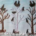 Фотоотчет «Коллективное творчество детей «Грачи прилетели!» (подготовительная к школе группа)
