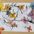 Аппликация из мятой бумаги с элементами рисования «Бабочковое дерево»