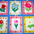 Мастер-класс по изготовлению цветов из вязаных ниток к 8 марта