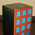 Мастер-класс по изготовлению многоэтажного дома для игры ПДД из бросового материала (коробка из под тостера)