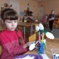 Конспект открытого интегрированного занятия для детей подготовительной к школе группе «Подснежники для мам»