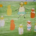 Коллективная работа «Овечки» с детьми от 5 лет