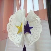 Мастер-класс «Изготовление новогоднего шара из ажурных кондитерских салфеток»