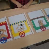 Дидактическая игра «Веселый паровозик», наборное полотно по грамоте и математике изготовленное своими руками
