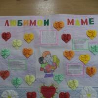 Изготовление стенгазеты «Любимой маме» к Дню матери