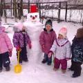 Проект «Снеговик» (разновозрастная группа) 2–4 года