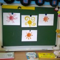 Фотоотчет о занятии по декоративному рисованию «Солнышко»