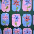 Фотоотчёт о занятии по аппликации с элементами оригами «Цветочки» для детей среднего дошкольного возраста