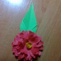 Мастер-класс «Объемный цветок для мамы»