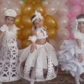 Креативные бумажные платья (фотоотчёт)