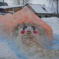 Зимний участок детского сада