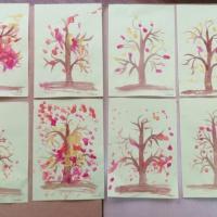 Конспект НОД в группе раннего возраста с использованием техники рисования пальчиками «Дерево для ёжика»