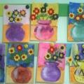 НОД по художественному творчеству ко Дню матери «Букет для мамы» в смешанной технике: гуашь, оригами, аппликация