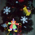 «Весёлый клоун». Мастер-класс изготовления игрушки из картона на ёлку