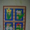 «Цветочное панно». Мастер-класс в технике аппликация из цветного картона