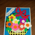 «Корзинка с цветами». Мастер-класс в технике аппликации