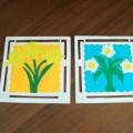 «Весенние цветы». Аппликация из картона. Мастер-класс