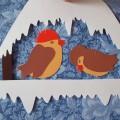 «Птички ждут весны». Мастер-класс поделки из картона