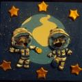 Наша поделка ко Дню космонавтики.