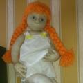 Фотосессия Машеньки и Аринушки. Куклы из капроновых чулок.