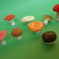 Изготовление муляжей грибов из глины
