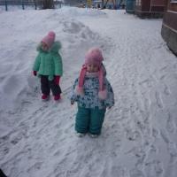 Фотоотчет зимней прогулки в первой группе раннего возраста