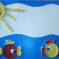Мастер-класс: поделка из ватных дисков «Золотые рыбки»