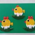 Мастер-класс: поделка из ватных дисков «Забавные цыплята»