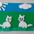 Мастер-класс: поделка из ватных дисков «Забавные котята»
